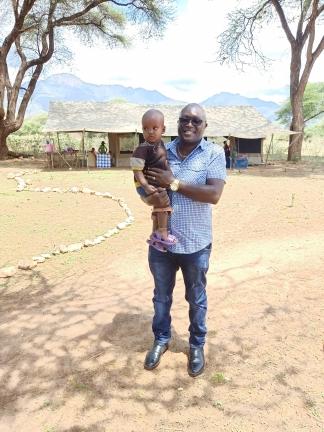 Hillary visiting Samburu